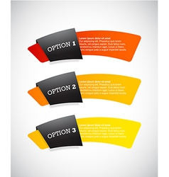 Set of paper labels with place for your own text vector