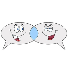 Cartoon speech bubbles speak vector
