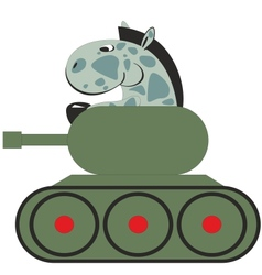 Cartoon horse in the tank 011 vector