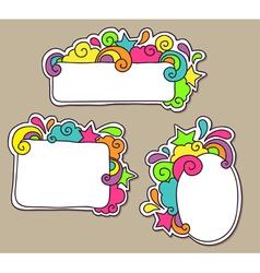 frames funky vector image