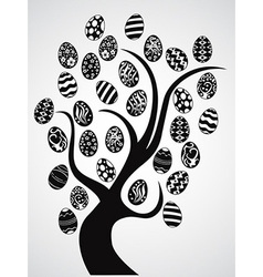 easter eggs tree vector image