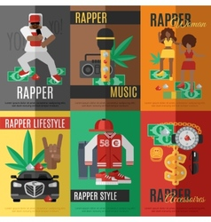 Rap music poster vector