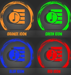 Audio mp3 file icon sign fashionable modern style vector