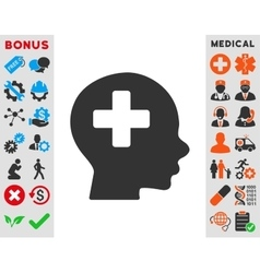 Head medicine icon vector
