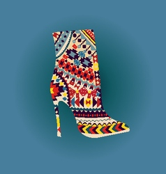 Shoes fashion beautiful boot vector