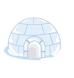 Ice house igloo vector image