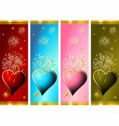 celebrating valentines vector image