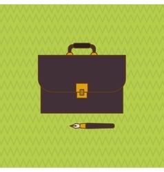 Law and justice suitcase icon design vector