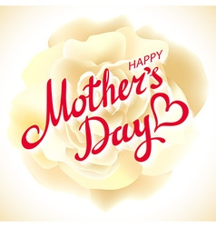 Mothers day design over beige rose background vector