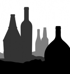 bottle landscape vector image
