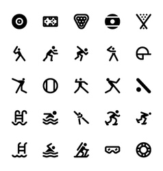 Sports and Games Icons 13 vector image