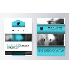 Flyer cover design white and blue template vector