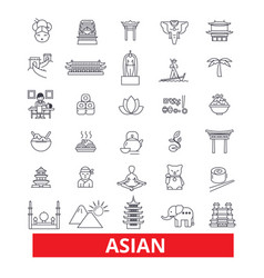 Asia chinese people indian japanese culture vector