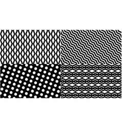 Black and white pattern background vector