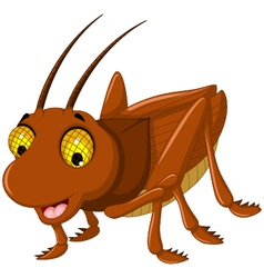 cute grasshopper cartoon for you design vector image