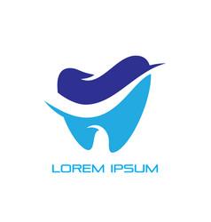dental healthy care tooth logo vector image