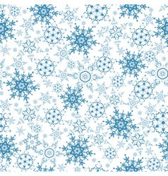 Festive seamless pattern with blue snowflakes vector