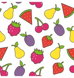 fruit seamless background vector image vector image