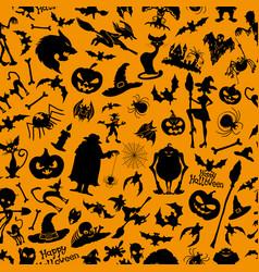 Halloween orange background vector