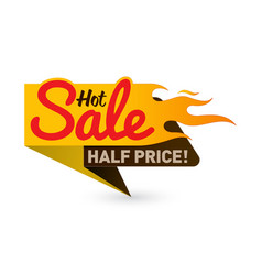 hot sale price offer deal labels templates vector image vector image