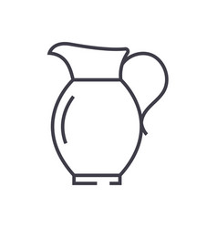 jar line icon sign on vector image