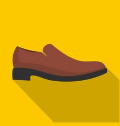 men shoe icon flat vector image