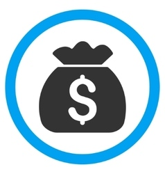 Money Bag Flat Rounded Icon vector image vector image