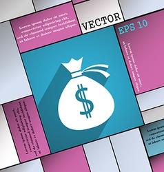Money bag icon symbol Flat modern web design with vector image