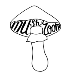Mushroom graphic drawing vector image