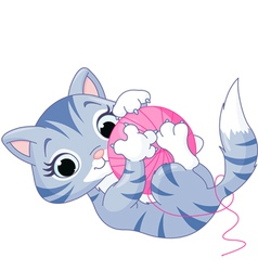 Playful Kitten vector image vector image