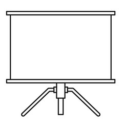 Projector icon outline style vector