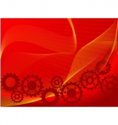 red cogs vector image vector image