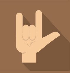 rock gesture icon flat style vector image vector image