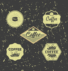 set of vintage retro grunge coffee badges and vector image