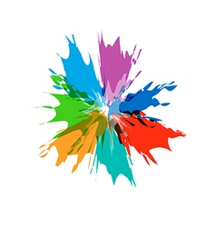 Splash burst color paints vector