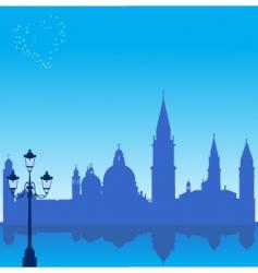 Venice silhouette vector