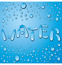 Water drop word vector image