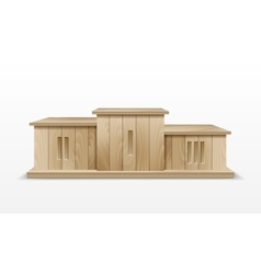 Wooden Winners Podium vector image