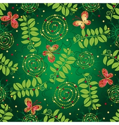Seamless green gradient pattern vector image