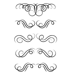Swirl elements and retro monograms vector