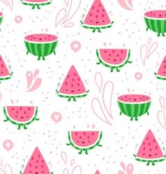 Watermelon fun seamless pattern vector