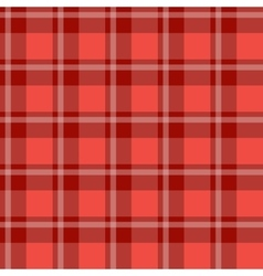 Red plaid fabric vector