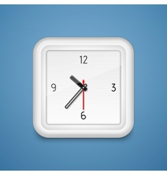 Square alarm clock icon vector