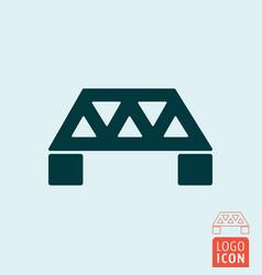 Bridge icon isolated vector