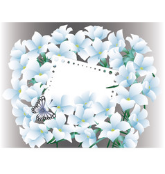 Abstract blue floral greeting card - holiday vector