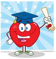 smart teacher apple and student vector image