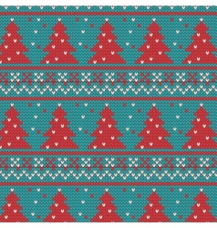 Xmas ornaments - seamless knitted background vector