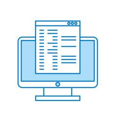 Computer desktop with template vector