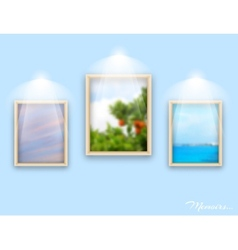 Frames on wall vector