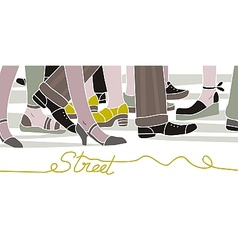 Street scene vector